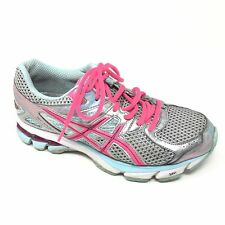 Women's Asics GT-1000 Shoes Sneakers Size 7 Running Training Gray Pink Mint AA7