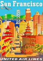San Francisco Chinatown United States America Travel Advertisement Art Print