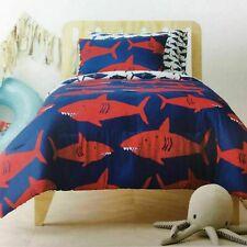 Pillowfort Great White Shark Twin Comforter Set with Shams Reversible