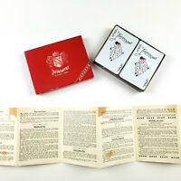 Vintage 1950's Aristocrat Canasta Playing cards 2 Decks Original Box Made in USA