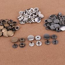 30pcs Botones a presión 17mm Poppers Snap Fastener + tools para Fijar Bricolaje