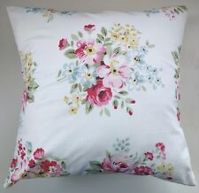 """Shabby Chic Cushion Cover in Cath Kidston White Spring Bouquet 16"""""""