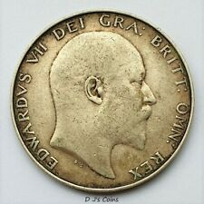More details for 1902 king edward vll silver .925 half crown coin, good grade with nice detail
