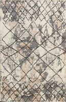 5'x8' Geometric Moroccan Oriental Hand-knotted Area Rug Wool Home Decor Carpet