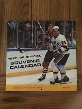 1987-88 Vintage Hockey Calendar Page - St. Louis Blues - KMOX