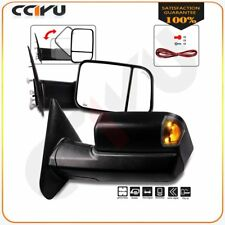 Tow Mirrors Pair For 2002-08 Dodge Ram 1500 2500 3500 Power Heated Turn Signals