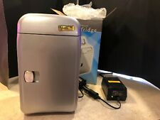 Vector Mini Fridge Cooler and Warmer With Converter 8 Can Camping Auto Boat Home