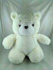 """White Bear Plush 17"""" Dayton Hudson 1989 Stuffed Animal Toy"""