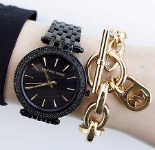 Original Michael Kors Uhr Damenuhr MK3337 Darci Frabe:Schwarz Kristall NEU