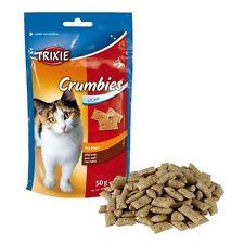 Crumbies con Malta Snacks para Gatos, Golosinas, Chucherías y Premios