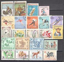 R9926 - MONGOLIA 1968 - LOTTO 22 TEMATICI DIFFERENTI DEL PERIODO - VEDI FOTO