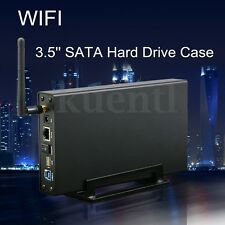 "3.5"" USB3.0 SATA WIFI Hard Drive HDD/SSD Case Wireless Router Repeater Enclosure"