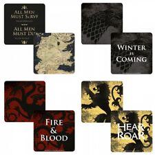 Single Coaster - Genuine Game Of Thrones Lenticular 3D Drinks Mat Gift HBO TV
