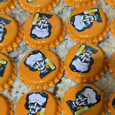 100 Bright Orange Raven Brewery Beer Bottle Caps Uncrimped Edgar Allan Poe