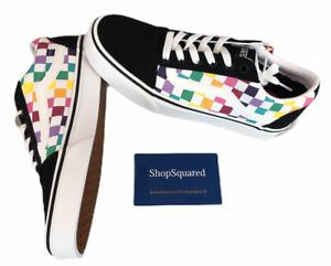 Vans (Ward) Rainbow Check Womens Size 8 Pride Skate Shoes New NIB Fast Ship🔥