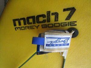 Vtg Surf Morey Boogie Board Mach 7 Bodyboard / Original Morey Leash / VERY CLEAN