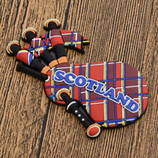3D Scotland Bagpipe Souvenir Rubber Fridge Magnet Funny Stickers Home Decoration