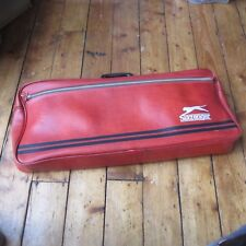 Slazenger Vintage Sports Bag Holdall Retro Red Leather Effect 1980s  Large  Thin 839a7515720cc