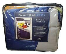NAUTICA TWIN XL KIDS REVERSIBLE COMFORTER SET W/ 1 STANDARD SHAM