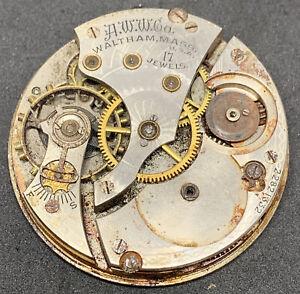 Waltham Grade 625 Pocket Watch Movement 16s 17j 1899 Hunter Repair Parts F2841