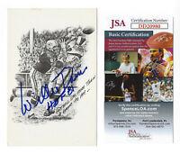 PACKERS Willie Davis signed postcard w/ HOF 81 JSA COA AUTO Autographed