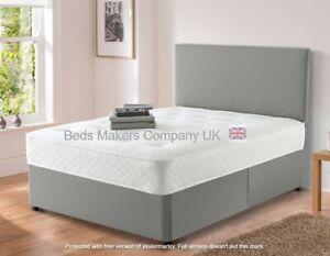 Luxe Suede Divan Bed Base with Storage Option & Headboard ✅BEST ONLINE