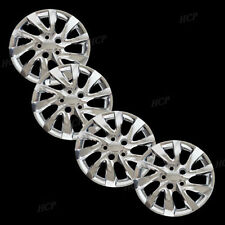 "New Wheel Covers Hub caps Fits 2010 2013 Hyundai Elantra 16"" Chrome Set of 4"