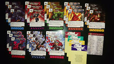 STARTER USED COMPLETE AVENGERS VS X-MEN DICE MASTERS CARDS + DICE