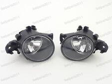 Front Fog Spot Lamp Lights Pair w/Bulbs For Nissan Versa Sedan 2015-2016