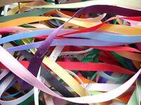 Berisfords 5mm Double Satin Ribbon Bundle Assorted Colours 10 x 1Mtr Lengths