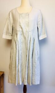 SITA MURT/ Double breasted Linen Shirt Dress - Measures a Size 12-14