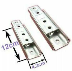 One pair Wall Headboard Fixing Bolt Brackets KD Sliding Heavy Duty Concealed