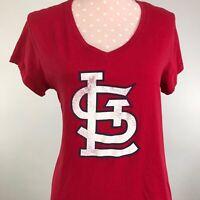 '47 BRAND ST. LOUIS CARDINALS LOGO MLB BASEBALL V-NECK WOMENS T SHIRT SIZE XL