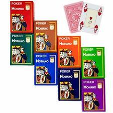 8 Decks of Modiano Cristallo Playing Cards – 4 Unique Pip Design, Premium Jumb