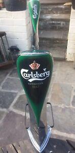 Carlsberg Beer Pump Engine Home Bar Mancave Lager Dispenser