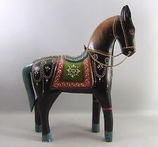 GRAND CHEVAL en  bois peint, 40 cm,  Inde,horse,mondo-cheval