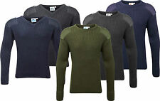 Adults Mens Crew & V Neck Military Army Security Pullover Jumper Commando Combat