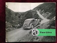 MG SA Two Litre Dealer Sales Brochure - 1938 - Original - Good Condition