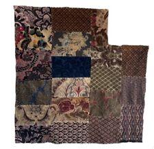 Charming 1930's, 40's French Jacquard Velvet Woven Patchwork (2390)