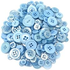 Blue 100 Gram Mix Acrylic & Resin Buttons For Cardmaking Embellishments