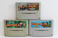 Lot 3 Super Donkey Kong Country 1 2 3 SFC Nintendo Super Famicom Japan Import C