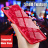 For iPhone 7 Plus 6s X Case 3D Glass Luxury Bling Shockproof Silicone Cover