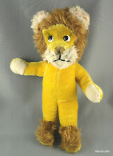 CMB Lion Doll Yellow Lowe Mohair Plush 25cm 10in Bendy 1960s Glass Eyes no ID