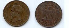 **Gertbrolen Napoléon III  10 Centimes tête nue 1855 Lille  Chien