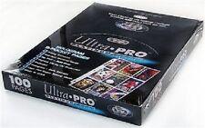 (100) Ultra Pro Premium Platinum 9-Pocket Baseball Trading Card Pages Sports