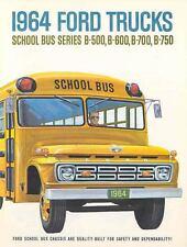 1964 Ford School Bus Chassis Brochure Series B500 B600 16183-XKEFXU