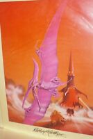 Arrival of the Fire Clown, Vintage Poster, signed, by Rodney Matthews