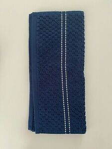 NWT DKNY Towels Navy Blue Texture Cotton Bath Hand Wash Cloth Choose Set OEKO