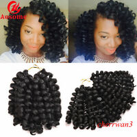 8'' Synthetic Wand Curl Jamaican Bounce Hair Crochet Twist Afro Braid 20 Strands