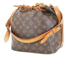 Authentic LOUIS VUITTON Petit Noe Monogram Shoulder Tote Bag Purse #35315